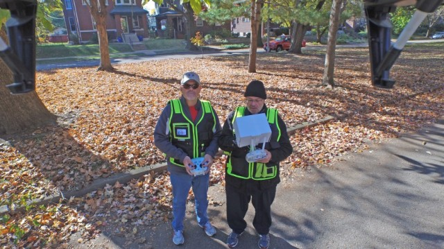 Safe Two Person Drone Flight Crew